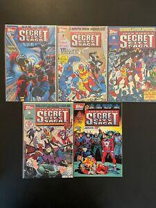 Jack Kirby's Secret City Saga #1-4 1994 High Grade 9.4 Topps Comic Books D21-157
