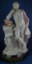 Large Antique 18thC Derby Porcelain Shakespeare Figurine Figure English England