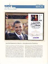 Barack Obama Staatsbesuch in Berlin 2013 Sonderbeleg Welcome Mr. President