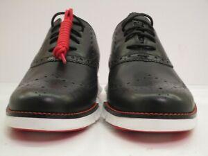 Men's NWOB Cole Haan Zero Grand Black Short Wingtips Size 9 M