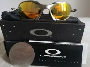 Oakley Romeo 1 Gold iridium With Box, bag and coin 1997. Read description Please