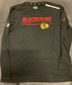 """Chicago Blackhawks - *-* Authentic Pro """"Fanatics"""" NHL Long Sleeve Shirt *_* NEW*"""
