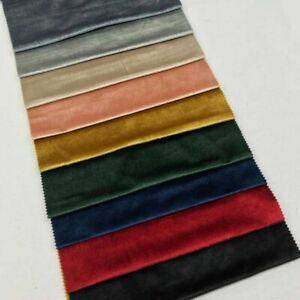 Soft PLUSH VELVET Material Velour Fabric Dress making Upholstery Curtain Blind