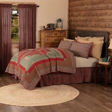 VHC Rustic King Quilt Bedding Patchwork Pre-Washed Gatlinburg Red Cotton