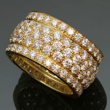 CARTIER Nigeria 18k Yellow Gold 5-Row Diamond $39000 Band Size 56 Ring