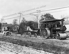 Photograph Vintage Case Steam Roller Road Grader  Year 1909  8x10