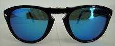 PERSOL 714 SUNGLASSES Polarized BLUE Steve McQueen SHINY BLACK (9531) Size 54