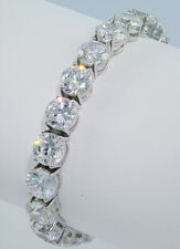 57 ct Bling bling Bracelet Top Russian CZ AAAAAA Moissanite Simulant 7 in. SS