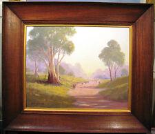 Leonard Long's Australian original oil titled  'Early Morning Kangaroo Valley'.