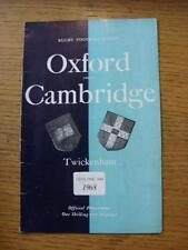 10/12/1968 Rugby Union programme: Oxford University/université de Cambridge [At T