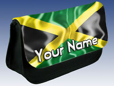 JAMAICAN FLAG PERSONALISED PENCIL CASE / DS / MAKE UP BAG - GREAT NAMED GIFT