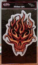 Flaming Flame Skull Vampire Sticker Decal Yujean