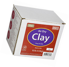 Air Dry Modeling Clay 10 Pounds Gray Amaco Home School Use Sculpting Molding New
