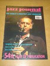 JAZZ JOURNAL INTERNATIONAL VOL 54 #3 2001 MARCH WAYNE MARSH DIZZY GILLESPIE