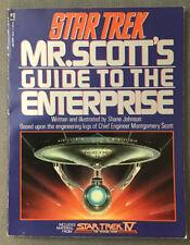Star Trek - Mr. Scott's Guide To The Enterprise. 1987. 1st Print (Accept PB)