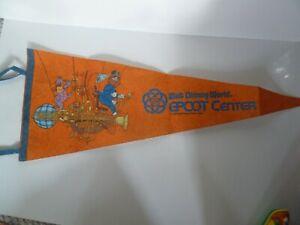 Rare Vintage EPCOT CENTER Figment Imagination Pennant 1982 Walt Disney World