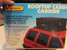 SAMSONITE ROOFTOP CARGO CARRIER WEATHER RESISTANT 13 CU. FT. SOFT LUGGAGE