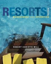 RESORTS MANAGEMENT AND OPERATION By Robert Christie Mill - Hardcover *Excellent*