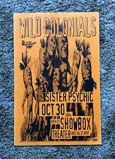 Wild Colonials Gig Poster 1994 Seattle Nm
