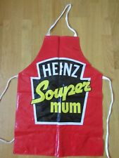 FAB RETRO ADULT SIZE *HEINZ SOUPER MUM* PVC APRON KITCHEN CHEF COOKERY COOKING
