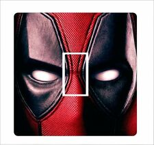 DEADPOOL HEAD 1 - Light Switch Sticker vinyl cover skin decal - 10
