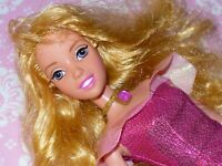 Mattel Disney Doll PRINCESS AURORA Sleeping Beauty with Pink Dress and Shoes