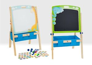 Children's Art Easel Magnetic Whiteboard & Chalkboard with magnets & accessories