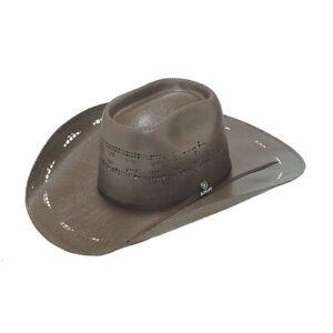 Ariat Unisex American Bangora Western Chocolate Brown Straw Hat A73262