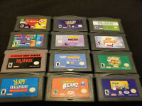 (12) GBA Puzzle Game Lot - Authentic - Cleaned & Tested (Nintendo GBA)