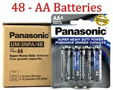 48 Wholesale Panasonic Aa Double A Batteries heavy Duty Battery 1.5v Bulk lot