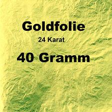 Goldfolie-dickes Blattgold 24 K. Gold Echtgold für Murano etc. 40 Gr. Einsatzgew