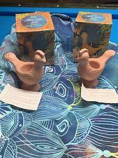 (2) 1978 Avon Terra Cotta Fragrance Candlette Holder Vtg Bird Candle Holder Nos
