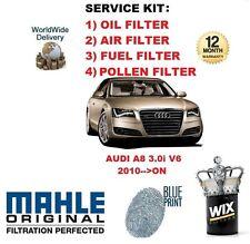 pour Audi A8 3.2 Berline V6 TFSI 2010> A HUILE AIR CARBURANT Filtre à Pollen
