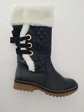 Ladies Womens Mid Calf Winter Warm Quilted Fur Lined Casual Fashion Boots Shoes