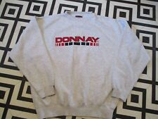 MENS VINTAGE 90S DONNAY HIPSTER RAVE XL OVERSIZED SWEATSHIRT GC SPELLOUT