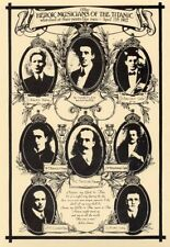 Collectable - Postcard of Wallace Hartley and 'Heroic Musicians of The Titanic'