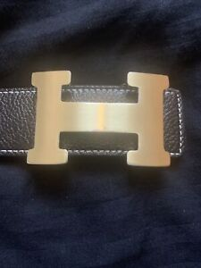 Ladies Hermes Black Belt - preowned - size small/medium - 41inch length
