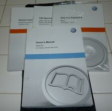 2013 VW JETTA GLI OWNERS MANUAL SET 13 GUIDE w/case GLI