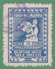 Yugoslavia Orasje Municipal Revenue Barefoot #3 used 20D cv $8