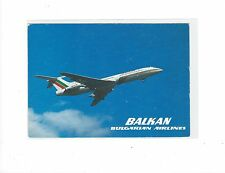 Balkan Airlines issued TU-154  cont/l  postcard