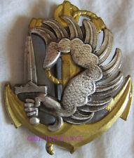 IN13455 - Insigne de Béret, T.A.P. T.D.M, dos guilloché