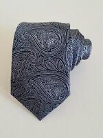 TED BAKER Curse Paisley Print Silk Tie, Navy