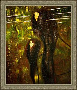 Mermaids by Gustav Klimt 85cm x 72.5cm Framed Ornate Silver