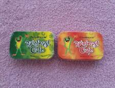 """2 """"Rainforest Cafe"""" collectible tins, Peppermint (new) & Cinnamint (empty)"""