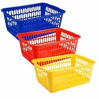 New Plastic Handy Storage Basket School Office Kitchen Pharmacy Tidy Organiser