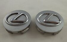 Lexus Wheels Silver / Chrome Logo Custom Wheel Center Caps Set of 2