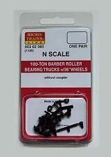 "Micro-Trains 00302080 N 1139 100-Ton Barber Roller Bearing Trucks w/36"" Wheels"