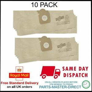 fits TITAN TTB351VAC WET & DRY VACUUM CLEANER PAPER DUST HOOVER BAGS 10 PACK
