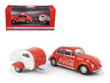 1967 VOLKSWAGEN BEETLE COCA COLA WITH TEAR DROP TRAILER 1/43 BY MCC 440032