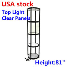 Us 81 Round Portable Aluminum Spiral Tower Display Case With Shelves